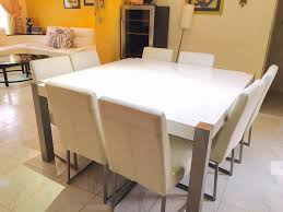 dining table center dining table with 8 leather chairs from home center dubai