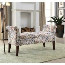 Skyline Furniture Upholstered Storage Bench Floral Storage Benches You U0027ll Love Wayfair