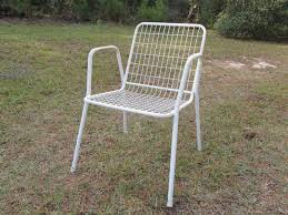 Metal Patio Chair Furniture Ideas Mesh Patio Chairs With White Patio Chair Color