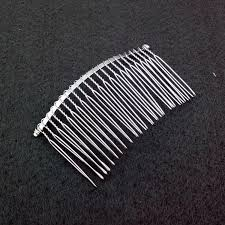 metal comb 50pcs lot metal combs 22 teeth hair accessories 85x45mm for