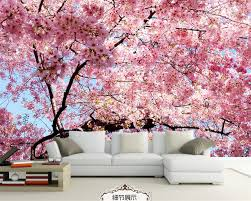cherry blossom bedroom beibehang photo wallpaper 3d stereo cherry blossom wall painting