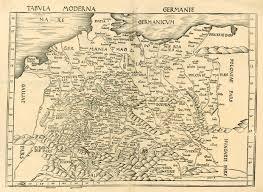 germania map antique map of germania by waldseemüller martin sanderus antique