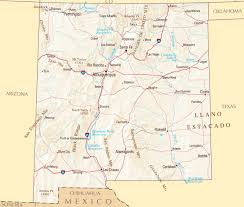 Map Of Arizona Cities Large Map Of New Mexico State With Roads Highways Relief And