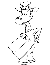 giraffe surfing coloring u0026 coloring pages