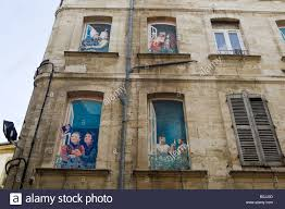 wall art murals in the centre of avignon vaucluse provence france stock photo wall art murals in the centre of avignon vaucluse provence france