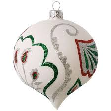 paisley floral blown glass ornament specialty ornaments hallmark