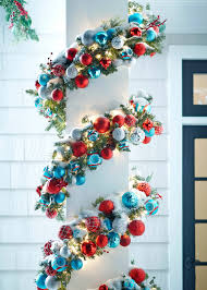 add shatterproof ornaments with wire to pre lit garland for an