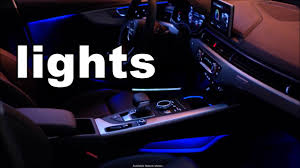 2017 Audi A4 Interior Lights Youtube