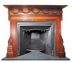 antique regency victorian cast iron fireplace insert