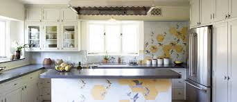 interior designer los feliz silver lake pasadena 004 panorama terrace kitchen bird tile mural kitchen
