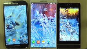 frozen flowers live wallpaper for android phones and tablets youtube