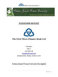 microfinance thesis fmfb intrnship report microfinance banks