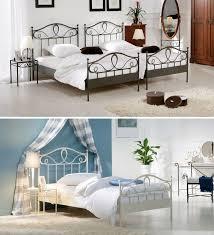 Schlafzimmer Bett Metall Stabiles Metallbett Mit Schönen Ornamenten Günstig Bei Betten