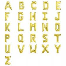 letter balloons gold foil letter balloons