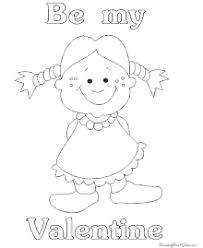 valentine day coloring pages for kids