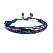 string bracelet men images Unisex adjustable surfer string bracelet in blue navy white and