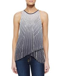ombre blouse s gray sweden beaded ombre blouse sweden ombre and