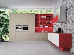 linear kitchen linear kitchen with integrated handles orange evolution linear