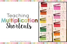 multiplication facts shortcuts identifying strategies and