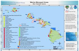 Gis Map Hawaiian Islands Humpback Whale Library Maps Charts And Gis Data