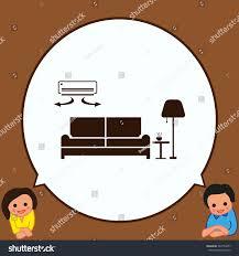 home interior design icon sofa icon stock vector 543753877