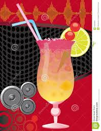 cocktail on the beach party disco flyer stock image image