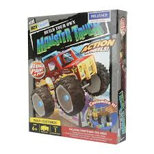 monster truck toy videos amazon com boy craft monster truck by horizon group usa toys u0026 games