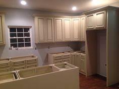 North American Maple Antique White Glaze Kitchen Cabinets With - Antique white cabinets kitchen