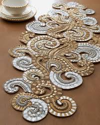 gold table runner and placemats table beaded runner beaded table runner bead embroidery purses