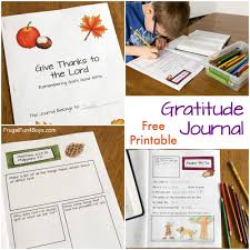 thanksgiving journal printable gratitude journal for kids and families