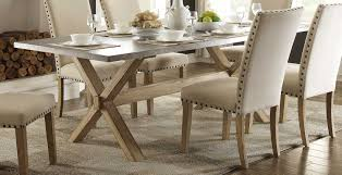 Trestle Dining Room Table by Homelegance Luella X Trestle Dining Table Weathered Oak 5100 84