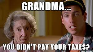 Happy Gilmore Meme - happy tax day don t end up like grandma memes