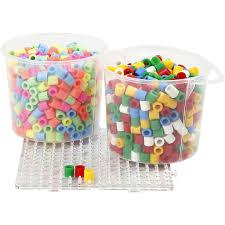 Pastel Colours Fuse Beads Size 10x10 Mm Hole Size 5 5 Mm Pastel Colours