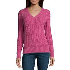 pullover sweater st johns bay sleeve v neck pullover sweater jcpenney