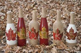 wine bottle home decor candy corn wine bottles set of 3 halloween home decor