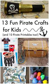 13 fun pirate crafts for kids and 10 pirate printables too