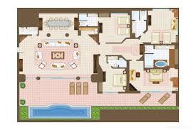 Presidential Suite Floor Plan by Casa Velas Presidential Suite