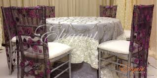 rosette chair covers chiavari chair covers for rent