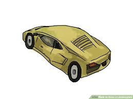 lamborghini car drawing 4 ways to draw a lamborghini wikihow