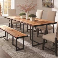 live edge outdoor table suthers rustic live edge dining table with 4 parson chair and bench