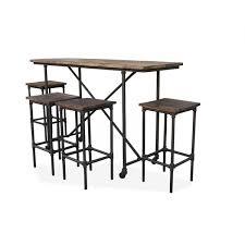 rustic 5pc bar setting rectangular table