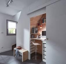 bureau dans placard placard et rangement nos solutions côté maison