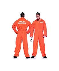 prison jumpsuit costume amazon com orange prison jumpsuit costume one size clothing