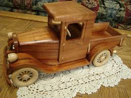 Woodworking Plans Toy Trucks by Side View Of U002728 U0027 Chevrolet Pick Up Varnished Bill U0027s Handmade
