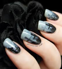 misty graveyard halloween nail art the adorned claw