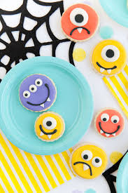 Halloween Cookie Cake Designs by Diy Monster Cookies Tell Love And Partytell Love And Party