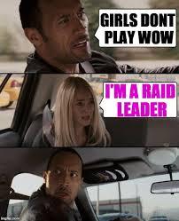 Raid Meme - the rock driving meme imgflip