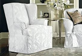 wingback chair slipcovers wingback chair slipcover view details a pattern