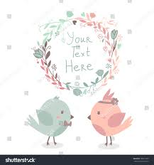 Invitation Card For Get Together Beautiful Vector Cute Greeting Card Floral Stock Vector 186011879