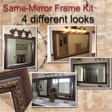 Frame Existing Bathroom Mirror Reflected Design Same Mirror Frame Kit 4 Different Looks